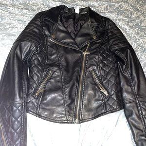 Black leather Moter jacket